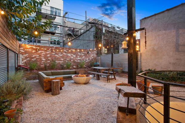 Backyard at 550 Grand Street in Brooklyn, New York