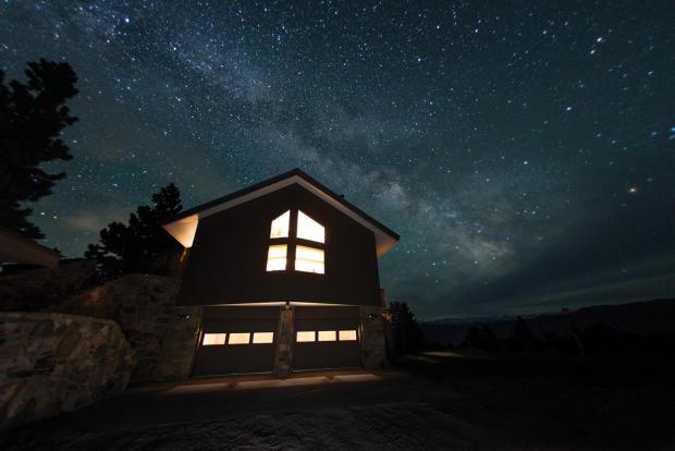 Stars over farm home