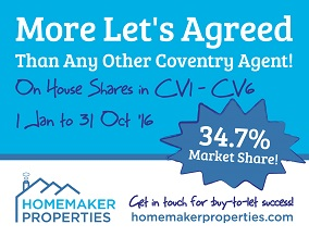 Get brand editions for Homemaker Properties, Coventry - Lettings