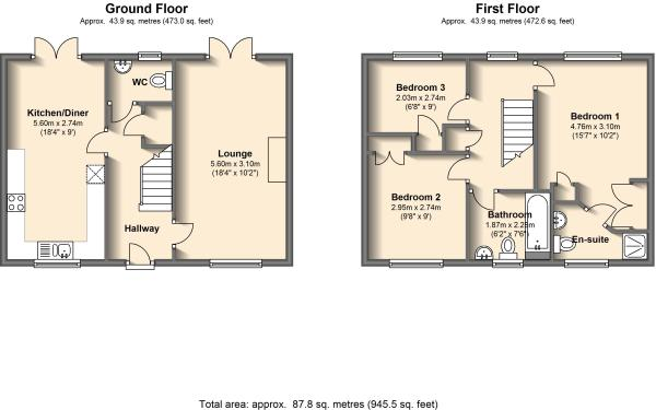 3 bedroom detached house for sale in 5 highgrove close for Highgrove house floor plan