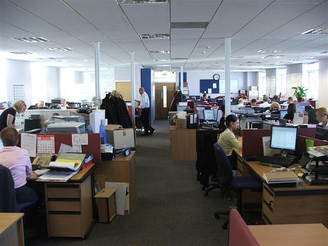 Open-Plan, Air-Conditioned Offices