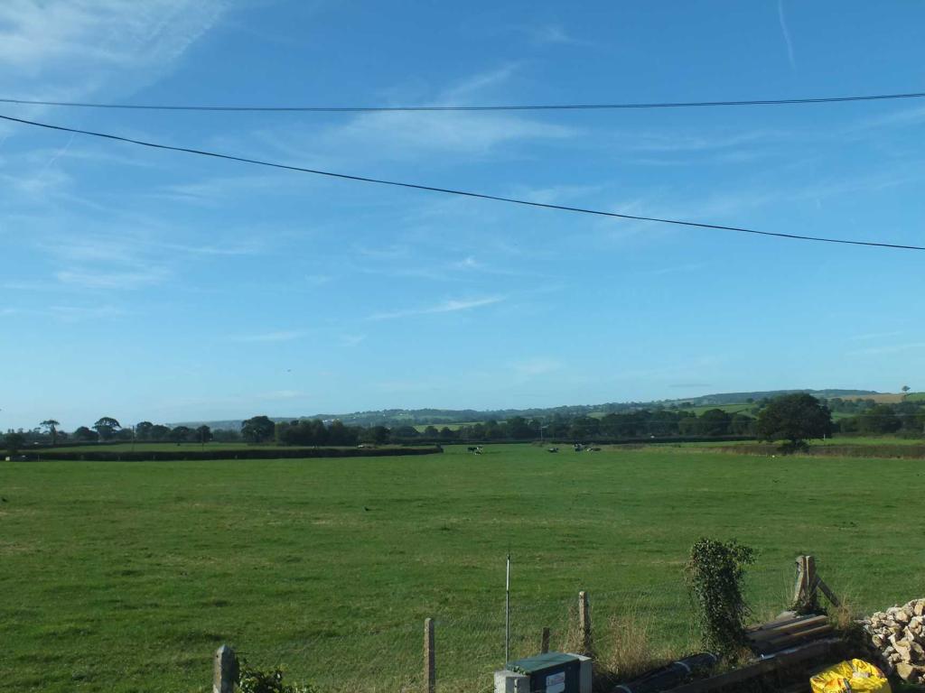 View across fields