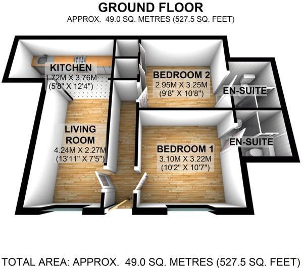 Floorplan Flat 2