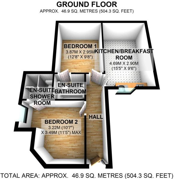 Floorplan Flat 1