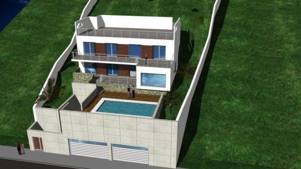 Lateral view of future villa