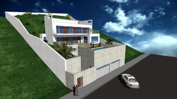 Façade of future villa