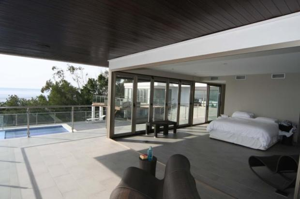 View to pool & rest of villa from the main bedroom