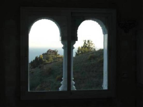 Sea view through Moorish windows