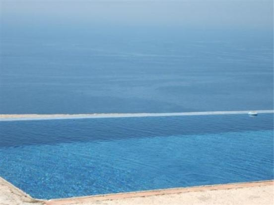 View over pool to the sea