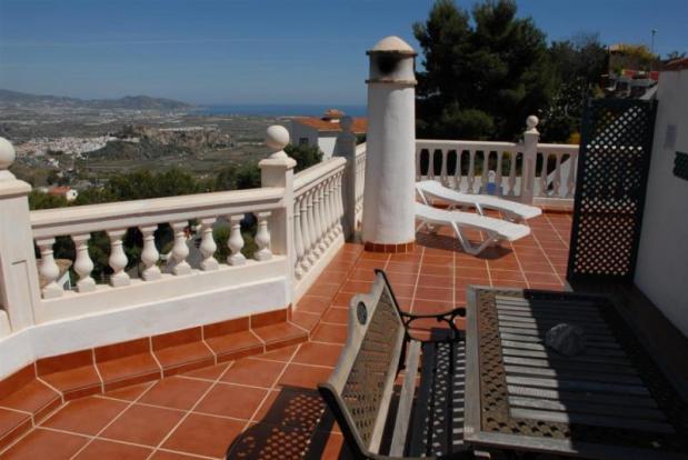 Moorish castle & sea from roof top terrace