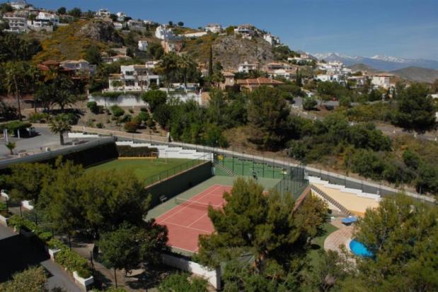 Communal recreational area as seen from villa