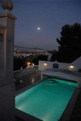 Illuminated pool at night - it is picture perfect!