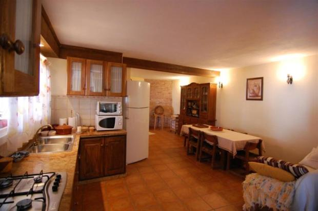 Fully fitted kitchen with large dining room