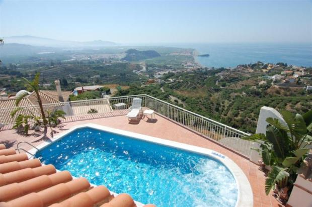 View from the main bedroom terrace to Salobrena
