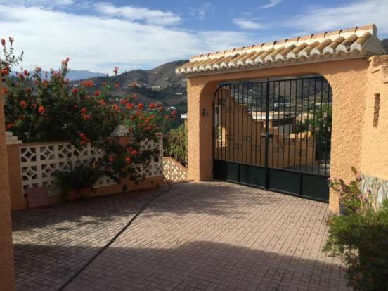 Entrance to this property, it is totally enclosed
