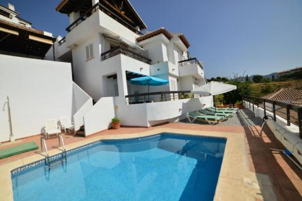 facade of this lovely villa w/private pool