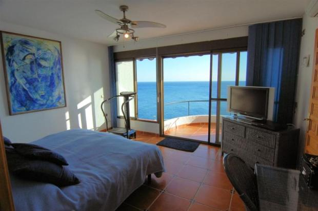 Spacious, master bedroom with terrace & sea view