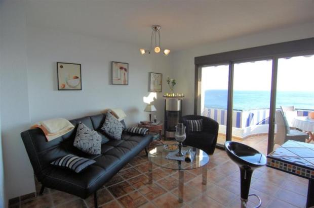 Sitting room in guest apartment with great seaview