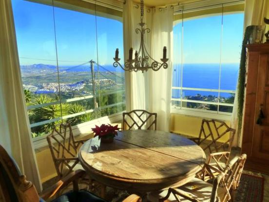 Dining room with amazing views