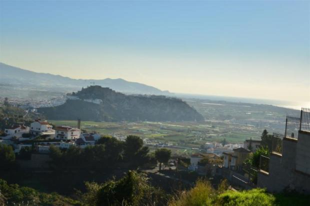 View to the Moorish castle of Salobrena
