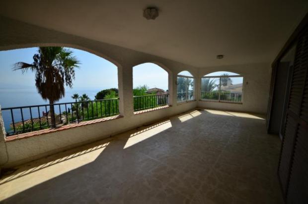 Covered terrace has 37 meters & great views