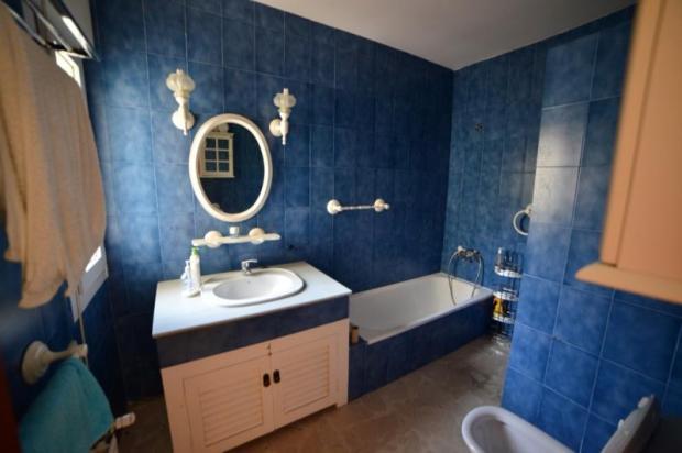 Colourful bathroom in main house