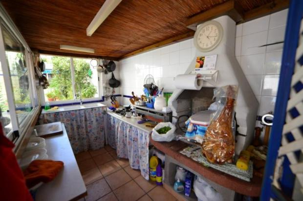 Outdoor kitchen, which is very handy