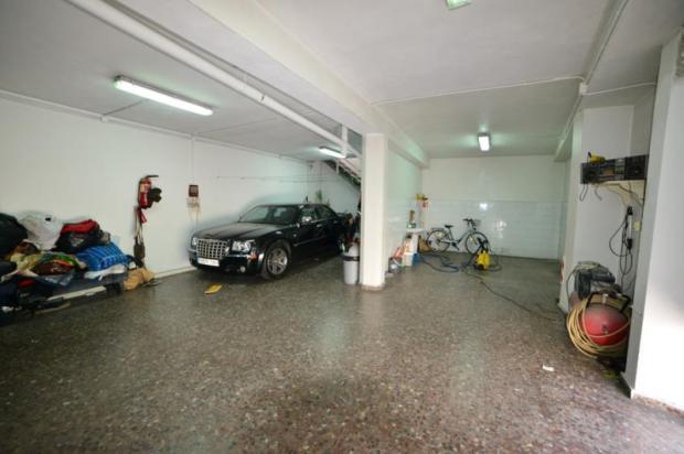Part of the 90 m2 garage