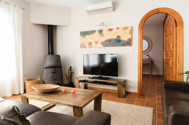 Part of open plan living room