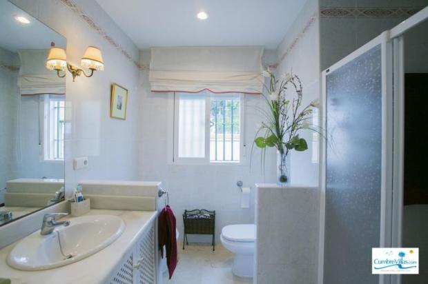 Elegant bathroom on entry level