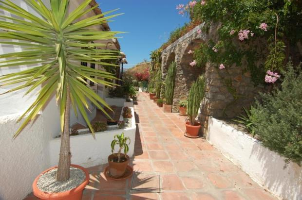 Entrance to this Andalucian style property