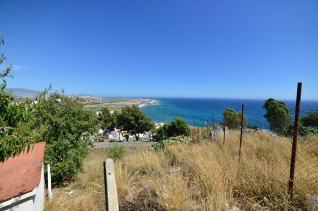 View from plot to the beach of Salobrena
