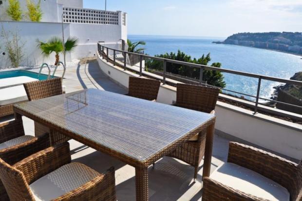 Dining area on pool terrace