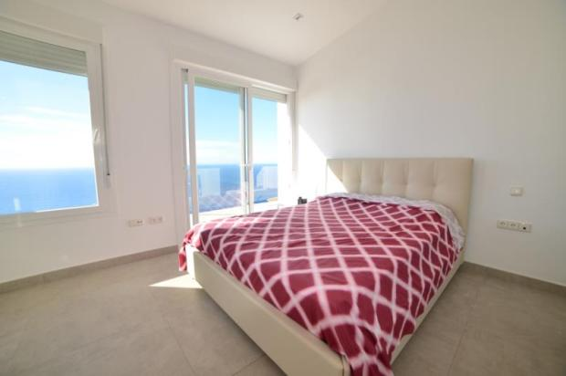 spacious master bedroom with great views