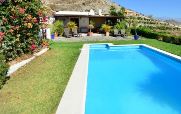 Private pool, covered terrace & mature garden
