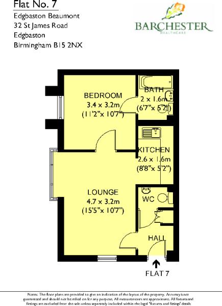 Flat 7 Floor Plans