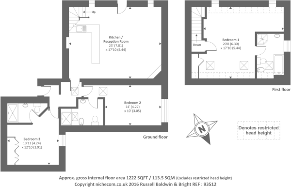 Floor Plan Barley Cottage