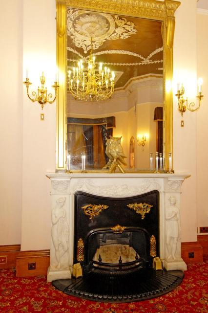 Typical fireplace