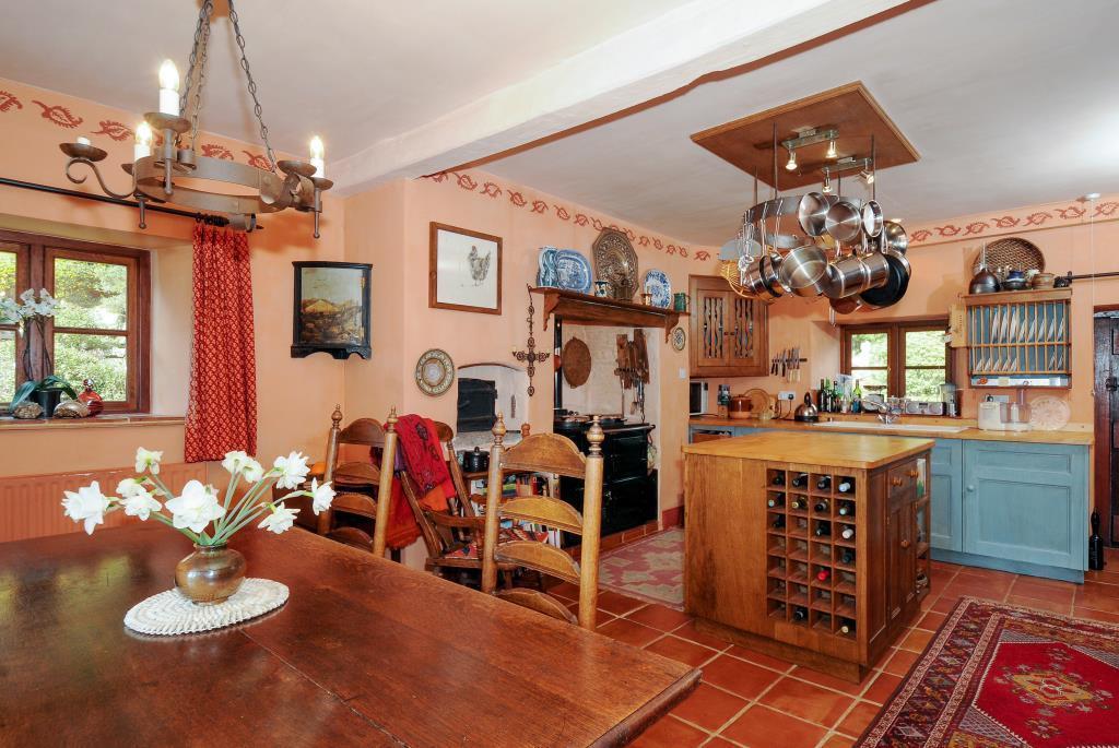 Farmhouse kitchen with Aga