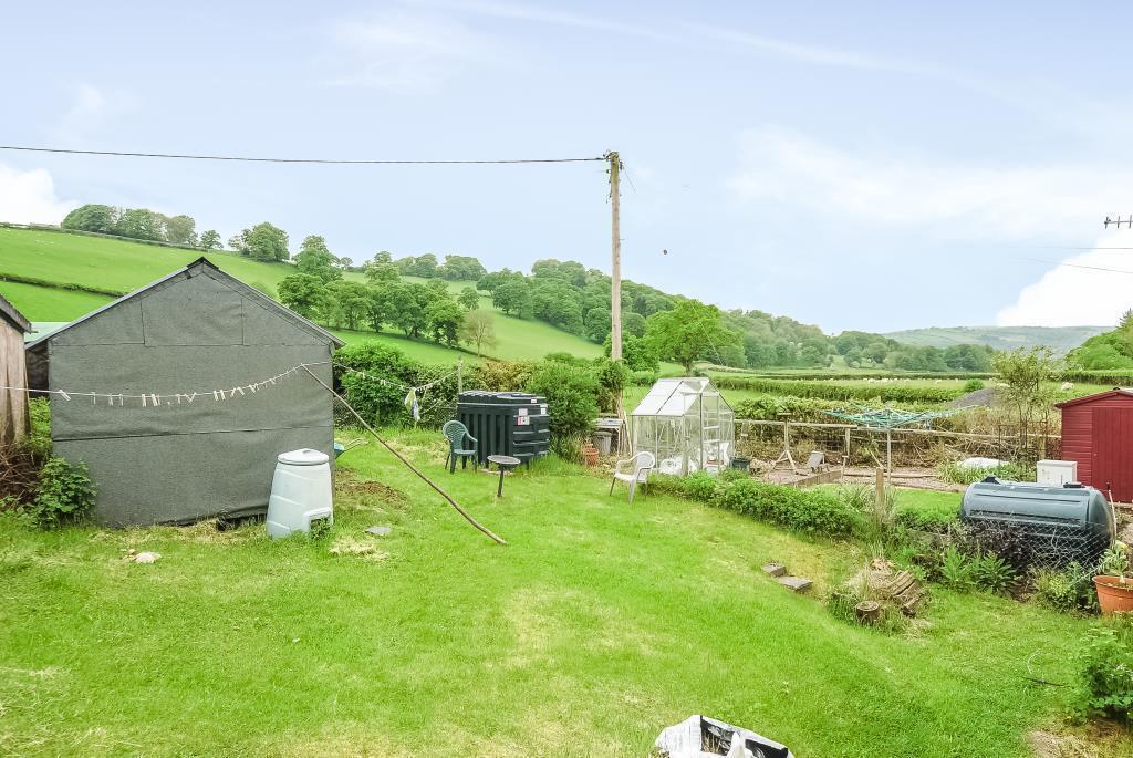Rear garden overlooking farmland