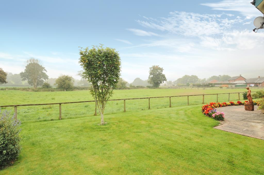 View of fields from the rear garden