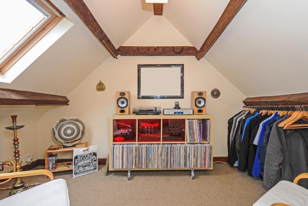 Spacious attic bedroom