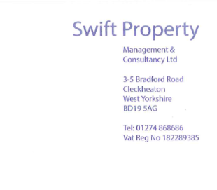 Swift Property Management & Consultancy Ltd , Cleckheatonbranch details