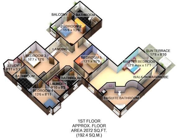 3D Floor Plan_First