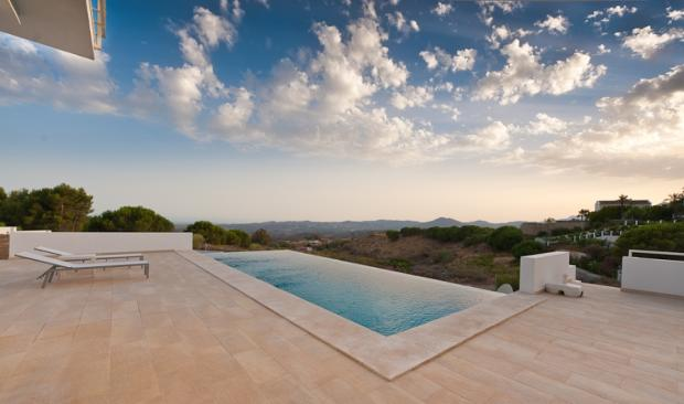 Terrace and pool at
