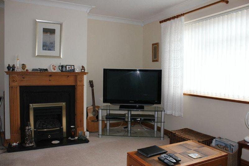 Front room with gas