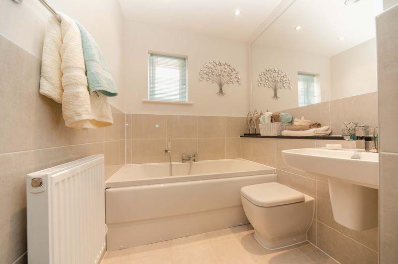 2 bedroom semi detached house for sale in murrell gardens for Show home bathrooms
