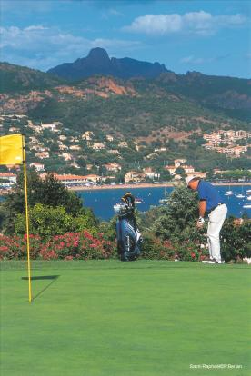 Golf with seaview