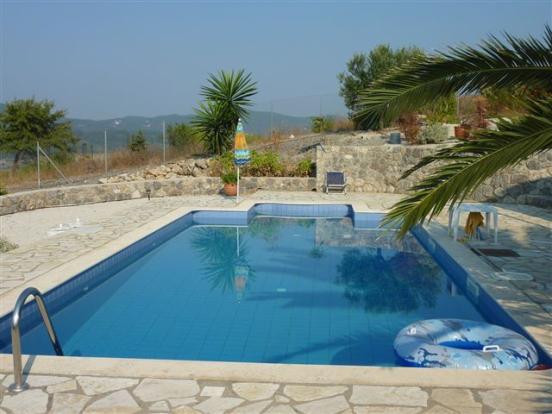 Pool at villa no.1
