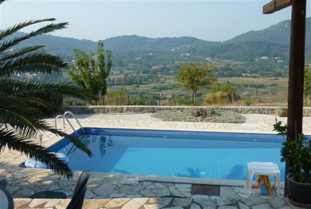 Pool and view at villa no.1